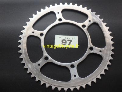 "STRONGLIGHT 52t 116BCD 3/32"" 3/6 BOLT CHAINRING NOS"