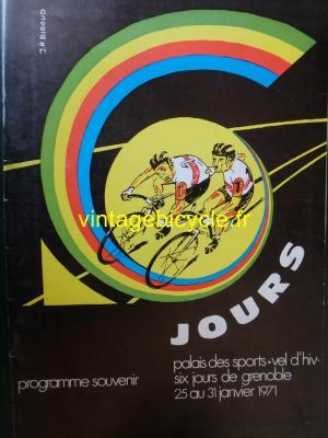 6 JOURS GRENOBLE PROGRAMME 1971