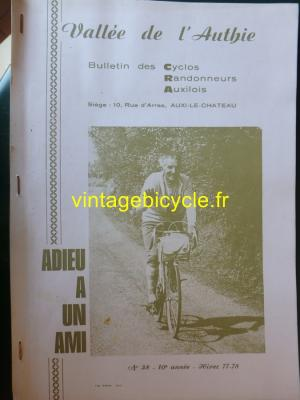 BULLETIN CYCLOS RANDONNEURS AUXILOIS N° 38 1977/78