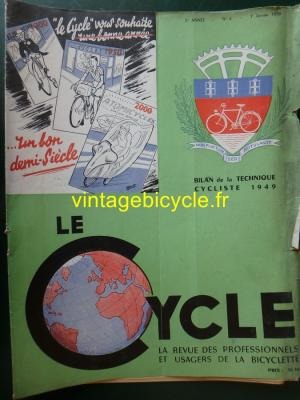 LE CYCLE 1950 - 01 - N°4 Janvier 1950