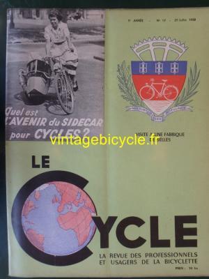 LE CYCLE 1950 - 07 - N°17 Juillet 1950