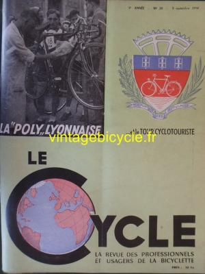 LE CYCLE 1950 - 09 - N°20 Septembre 1950