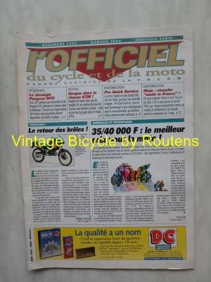 L'OFFICIEL du cycle et de la moto 1995 - 11 - N°3608 Novembre 1995