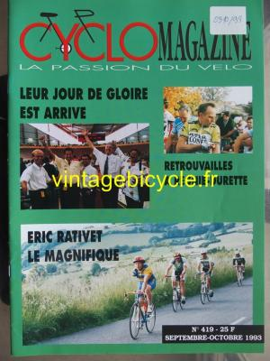 CYCLO MAGAZINE 1993 - 09 - N°419 septembre / octobre 1993