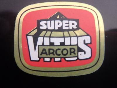 SUPER VITUS ARCOR ORIGINAL Bicycle Frame Tubing STICKER NOS
