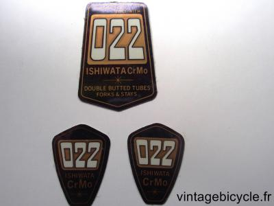 ISHIWATA 022 ORIGINAL Bicycle Frame Tubing STICKER NOS
