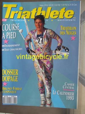 TRI-ATHLETE - 1993 - 03 - N°75 mars 1993