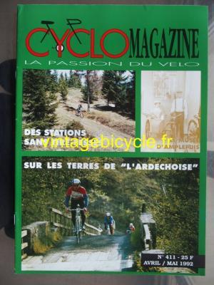CYCLO MAGAZINE 1992 - 04 - N°411 avril / mai 1992