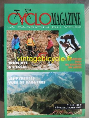 CYCLO MAGAZINE 1992 - 02 - N°410 fevrier / mars 1992
