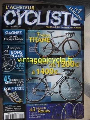 L'ACHETEUR CYCLISTE 2003 - 04 - N°1 Avril 2003
