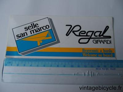 SAN MARCO SELLE REGAL Autocollants NOS
