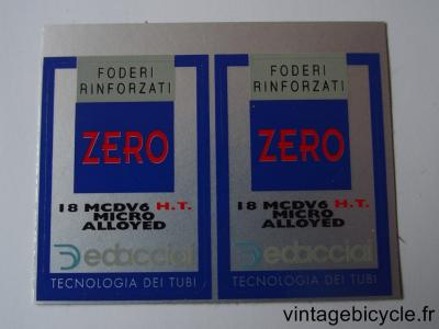 DEDACCIAI ZERO FORK BLADES ORIGINAL Bicycle Frame Tubing STICKER NOS (a pair)