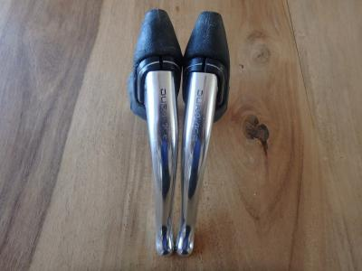 SHIMANO VINTAGE DURA-ACE BL-7400 ALLOY BRAKE LEVERS *1985s* - NOS