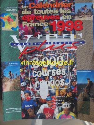 VELO TOUT TERRAIN 1998 Calendrier des épreuves en France