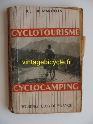 CYCLOTOURISME CYCLOCAMPING 1952 - R.J. De Marolles