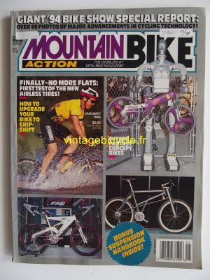 MOUNTAIN BIKE ACTION 1994 - 01 - N° 1 janvier 1994