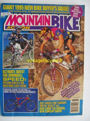 MOUNTAIN BIKE ACTION 1994 - 11 - N° 11 novembre 1994