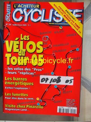 L'ACHETEUR CYCLISTE 2005 - 07 - N°24 juillet / aout 2005