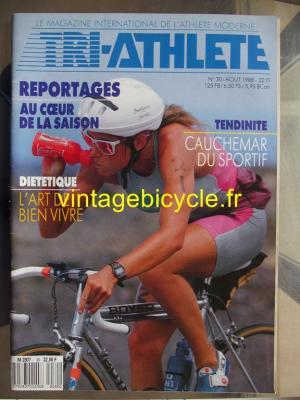 TRI-ATHLETE - 1988 - 08 - N°30 aout 1988