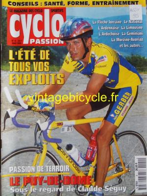 CYCLO PASSION 1995 - 08 - N°09 aout 1995