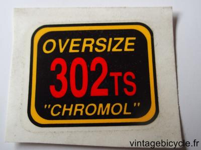 OVERSIZE 302TS CHROMOL ORIGINAL Bicycle Frame Tubing STICKER NOS