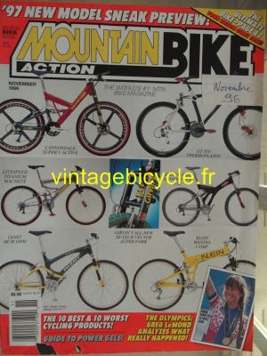 MOUNTAIN BIKE ACTION 1996 - 11 - N°11 novembre 1996