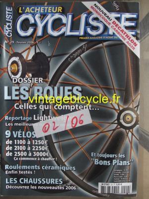 L'ACHETEUR CYCLISTE 2006 - 02 - N°29 fevrier 2006