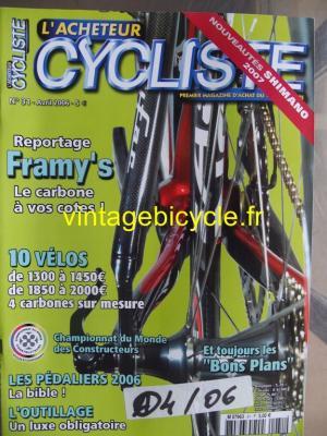 L'ACHETEUR CYCLISTE 2006 - 04 - N°31 avril 2006