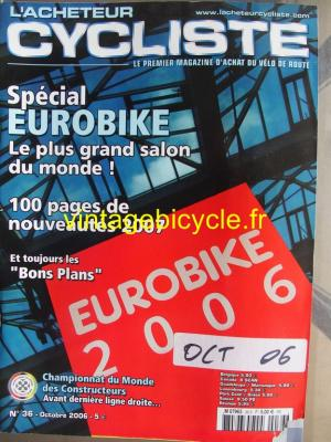 L'ACHETEUR CYCLISTE 2006 - 10 - N°36 octobre 2006