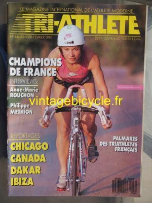 TRI-ATHLETE - 1990 - 01 - N°44 janvier / fevrier 1990