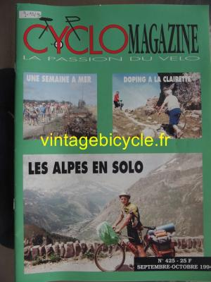 CYCLO MAGAZINE 1994 - 09 - N°425 septembre / octobre 1994