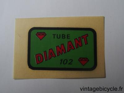 DIAMANT 102 ORIGINAL Bicycle Frame Tubing STICKER NOS