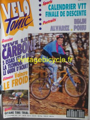 VELO TONIC 1991 - 12 - N°9 decembre 1991
