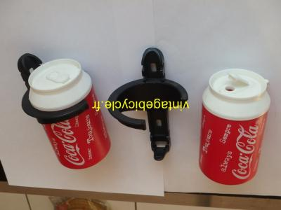 ELITE COCA-COLA bottle and bottle cage. NOS