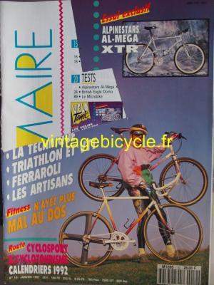 VELO TONIC 1992 - 01 - N°10 janvier 1992