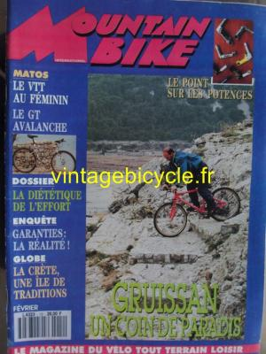 MOUNTAIN BIKE INTERNATIONAL 1992 - 02 - N°12 fevrier 1992