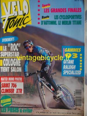 VELO TONIC 1992 - 11 - N°19 novembre 1992