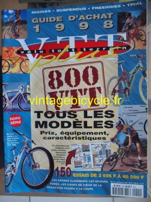 VELO TOUT TERRAIN 1998 - 02 - N°1HS fevrier  1998