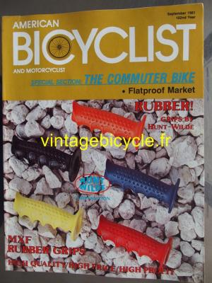 AMERICAN BICYCLIST - 1981 - 09 - N°9 septembre 1981