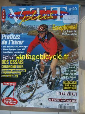 VELO TOUT TERRAIN 1999 - 01 - N°20 janvier / fevrier 1999