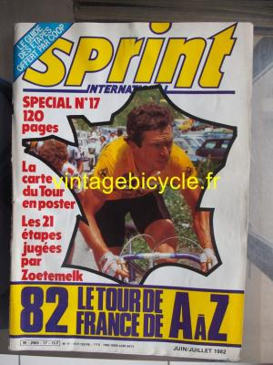 SPRINT INTERNATIONAL 1982 - 06 - N°17 juin / juillet 1982