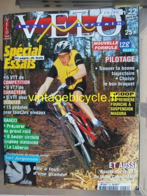 VELO TOUT TERRAIN 1999 - 04 - N°22 avril 1999