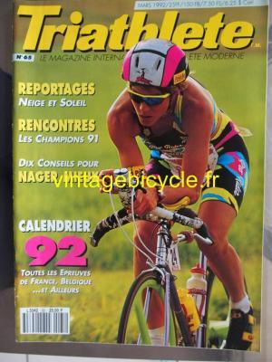 TRI-ATHLETE - 1992 - 03 - N°65 mars 1992