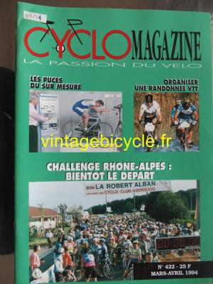 CYCLO MAGAZINE 1994 - 03 - N°422 mars / avril 1994