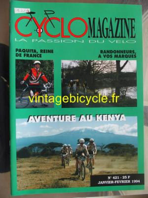 CYCLO MAGAZINE 1994 - 01 - N°421 janvier / fevrier 1994