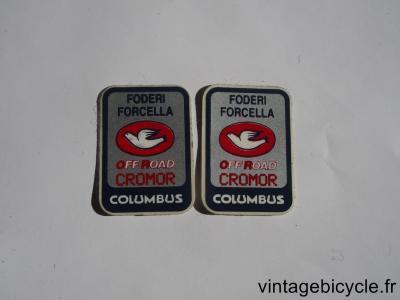 COLUMBUS FODERI CROMOR OFF ROAD ORIGINAL Bicycle Frame Tubing STICKER NOS (a pair)