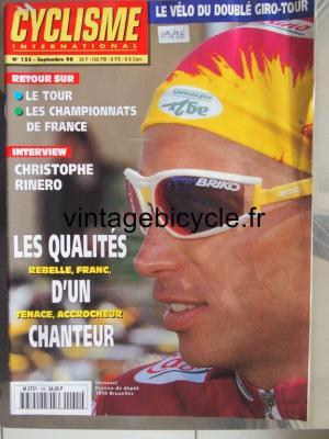 CYCLISME INTERNATIONAL 1998 - 09 - N°155 septembre 1998