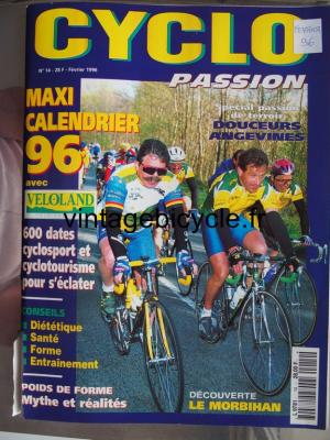 CYCLO PASSION 1996 - 02 - N°14 fevrier 1996