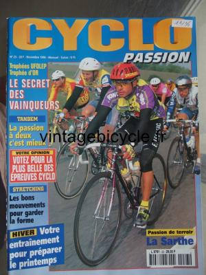 CYCLO PASSION 1996 - 11 - N°23 novembre 1996