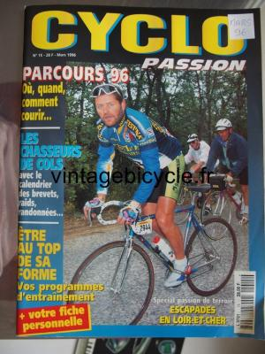 CYCLO PASSION 1996 - 03 - N°15 mars 1996